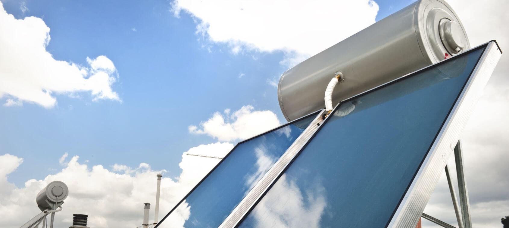 Impianto solare termico in inverno
