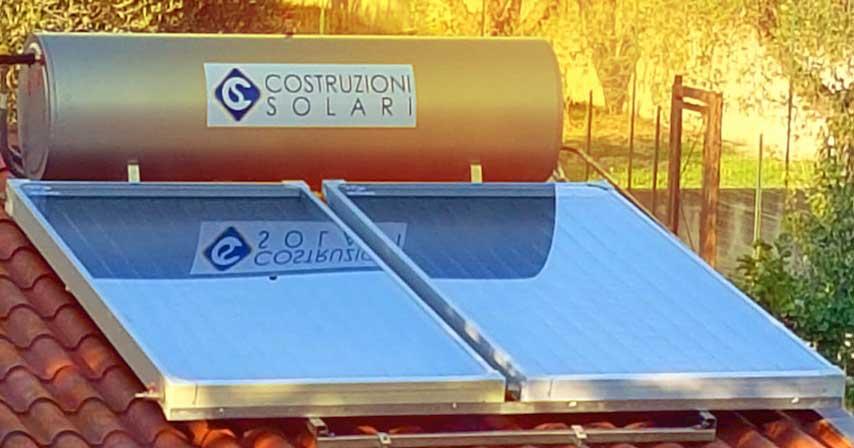 come nascondere un serbatoio di un impianto solare termico